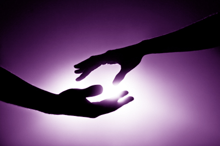 violet-hands-light